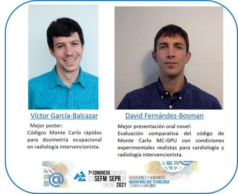 Premios al 7º Congreso Conjunto de la SEFM-SEPR